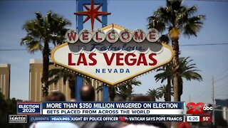 More than $350 million wagered on election