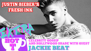 Shirtless Justin Bieber's Fresh Ink!: Extra Hot T with Jackie Beat - Video