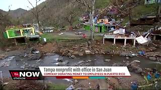 Tampa nonprofit donating money to employees in Puerto Rico - Video