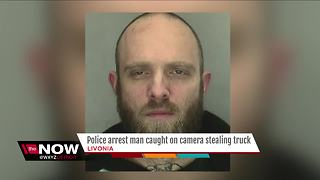 Police arrest man caught on camera stealing truck - Video