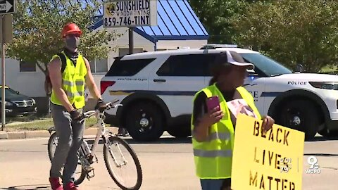 Peaceful protesters march for BLM in Boone County, Kentucky