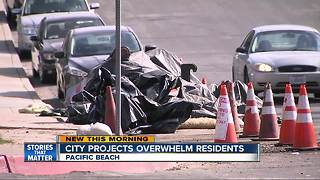 Pipe projects in Pacific Beach Irk Residents - Video