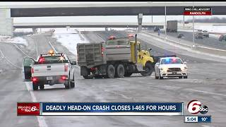 Woman killed in head-on crash with a FedEx truck - Video
