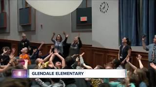 Andy's weather machine visits Glendale Elementary