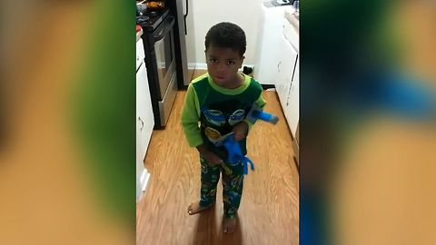 Boy Searches For Missing Cupcakes