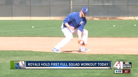 Royals held first full squad workout Monday