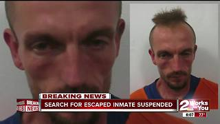 Escaped Inmate search suspended - Video