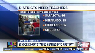 Teachers still needed at several Tampa Bay area school districts