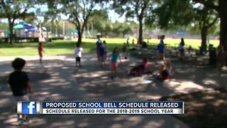 Hillsborough releases proposed bell schedule - Video