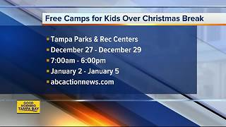 City of Tampa offering free activities at 7 Parks & Rec Centers during 'Jingle Jam' - Video