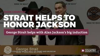 George Strait honors Alan Jackson | Rare Country - Video