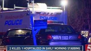 2 Killed, 1 Injured In Stabbing - Video