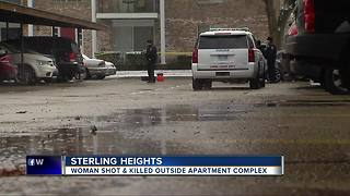 Woman shot, killed outside apartment complex in Sterling Heights - Video