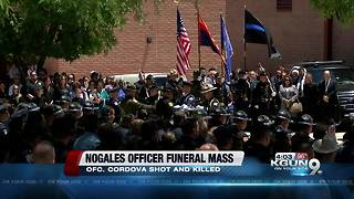 The Nogales community came together for Officer Cordova's funeral - Video