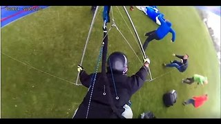 Viral Video UK: Epic hangglider crash!