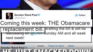 "Rand Paul Tweets Picture of Page of ""Obamacare Replacement Act"" - Video"