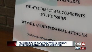 Fort Myer City Council Wants to ban offensive language at meetings