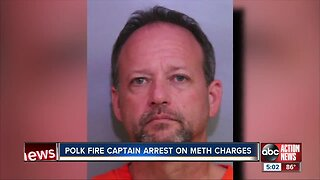 Polk Fire Rescue Captain arrested for possession of methamphetamines