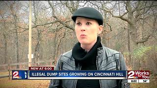 Illegal dump sites growing on Cincinnati Hill - Video