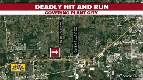 Pedestrian killed in Plant City hit-and-run, police searching for suspect