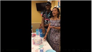 Man has most priceless reaction ever to gender reveal