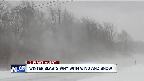 Wind and snow impact southern Erie County