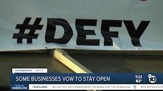 Some San Diego businesses vow to stay open despite orders