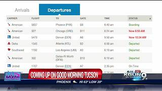 Flight Delays at Tucson International Airport - Video