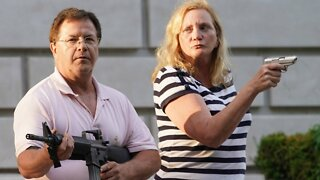 Couple Pulls Guns On Protesters Cutting Through Their Private Neighborhood
