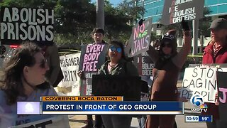 Protest held at The Geo Group in Boca Raton