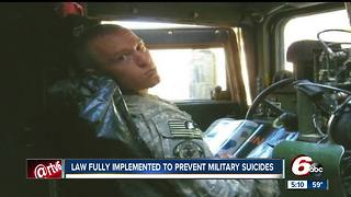 Law implemented to prevent military suicides - Video