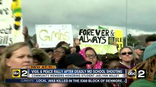 Vigil and Peace Rally after deadly Maryland School Shooting - Video