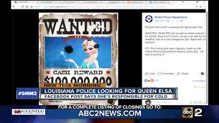 Police issue warrant for Elsa after brutal cold - Video