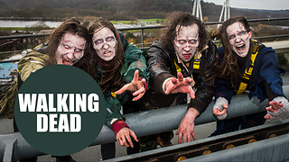 Weirdest job interview ever - Thorpe Park scarer of the year - The Walking Dead - Video