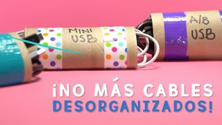 ¡No más cables desorganizados en casa! - Video