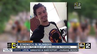 Hundreds turn out for memorial bike ride for 20-year-old killed on Charles Street - Video
