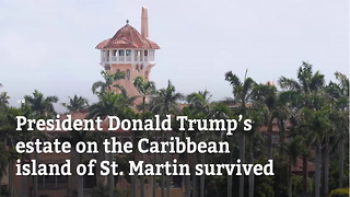 Trump's Caribbean Estate Survives Irma Nearly Unscathed - Video