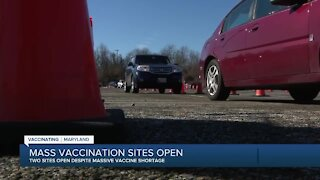 Mass vaccination sites open