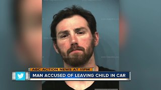 Man accused of leaving child in car