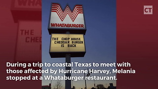 First Lady Melania Trump Stops At A Texas Whataburger - Video
