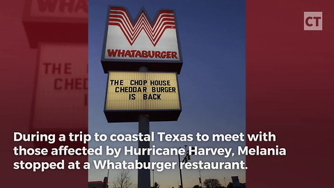 First Lady Melania Trump Stops At A Texas Whataburger