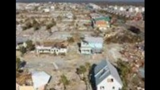 Drone Footage Captures Recovery Efforts in Mexico Beach, Florida - Video