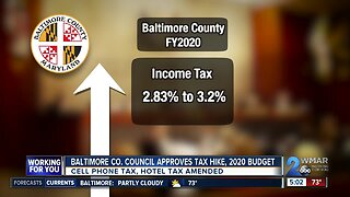Baltimore County Council approves tax hikes, 2020 fiscal year budget