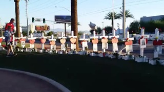 White Crosses Memorialize Las Vegas Shooting Victims - Video