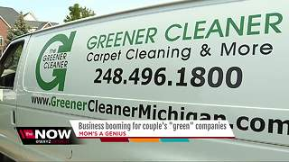 Business booming for couple's green carpet cleaners - Video