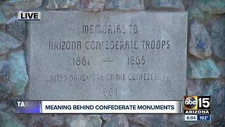 Confederate monuments vandalized in Arizona - Video