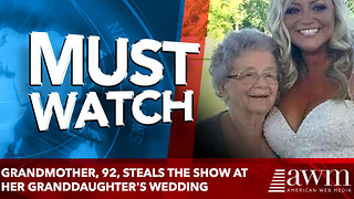 Grandmother, 92, steals the show at her granddaughter's wedding - Video