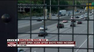 Northbound lanes reopen on I-43 after shots fired - Video