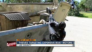 Thieves target expensive boat motors - Video
