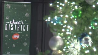 The Deer District Tree Lighting Ceremony happened on Saturday in Downtown Milwaukee